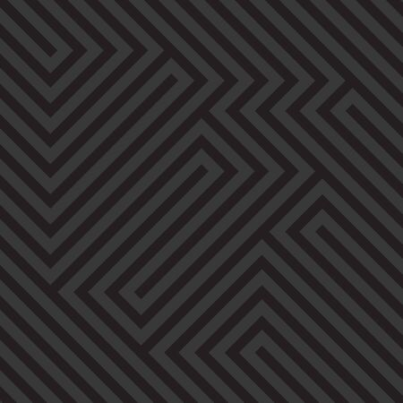 Optical illusion diagonal black and white pattern, modern op art geometric abstract background. Vector illustration