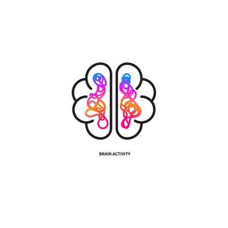 Brain activity, creative brain Ilustrace
