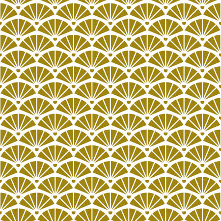 Geometric retro background with gold fans Ilustrace