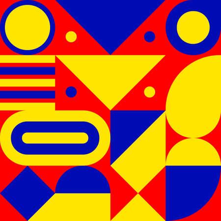 Bauhaus print, geometric seamless retro pattern Ilustrace