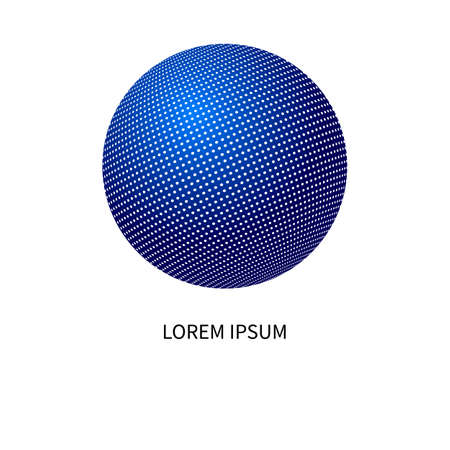 Communication  , networking icon with blue sphere, business  , telecommunications symbol