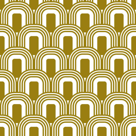 Art Deco seamless gold pattern in 1920s style