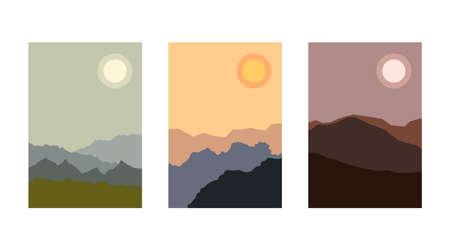 Minimalist mountain landscape