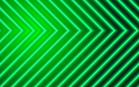 Neon arrows on green background, technology design element Illusztráció