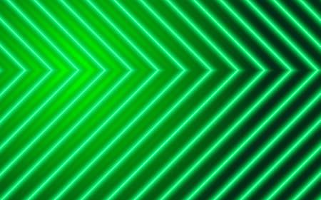 Neon arrows on green background, technology design element Ilustrace
