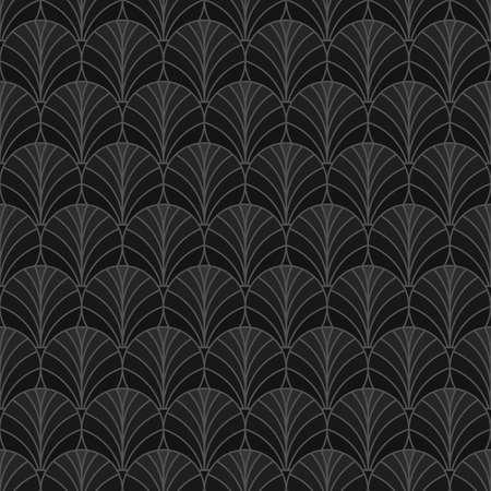 Fan seamless abstract geometric pattern