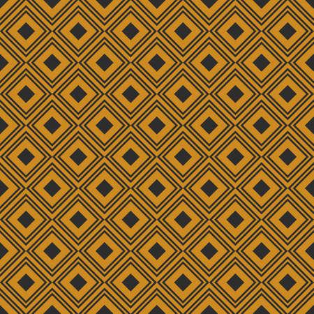 geometric retro background with gold rhombus
