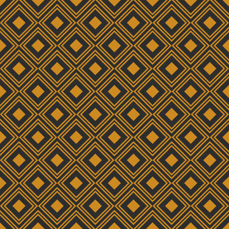 geometric retro background with gold diamonds Ilustrace