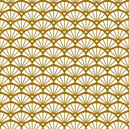 Geometric retro background with gold fans Illusztráció