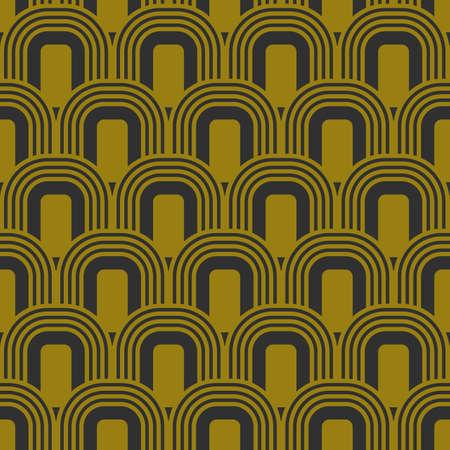geometric retro background with gold ovals Illusztráció