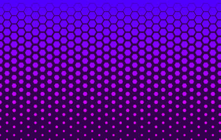 Halftone technology banner with hexagons Ilustrace