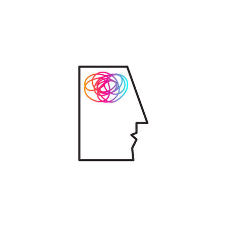 Brain activity abstract creative icon, concept of mental health