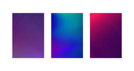 Minimal cover design of brochure or poster. Set line of abstract minimalist backgrounds