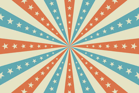 Circus background, abstract pattern with rays and stars, banner element for show, fair. Circus pattern