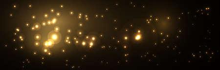 Christmas wide banner with lights Illusztráció
