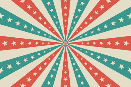 Circus background, abstract pattern with rays and stars Vektorgrafik