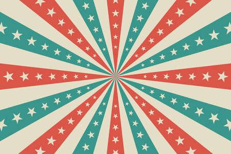 Circus background, abstract pattern with rays and stars Vektoros illusztráció
