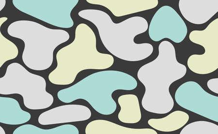 Organic hand drawn shapes. Seamless abstract biology flat pattern Illusztráció