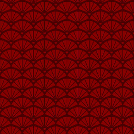 Geometric seamless vintage pattern with fans Vectores