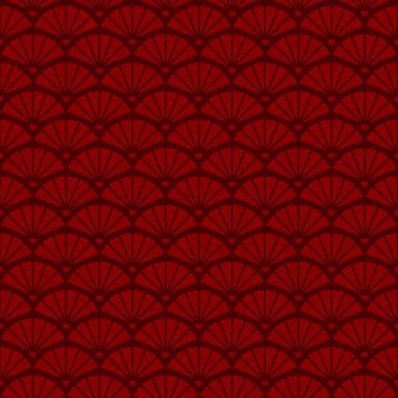 Geometric seamless vintage pattern with fans Illusztráció