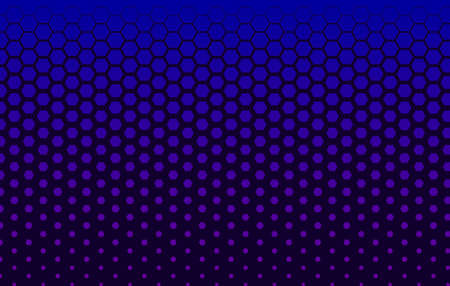 Halftone technology banner with hexagons Illusztráció