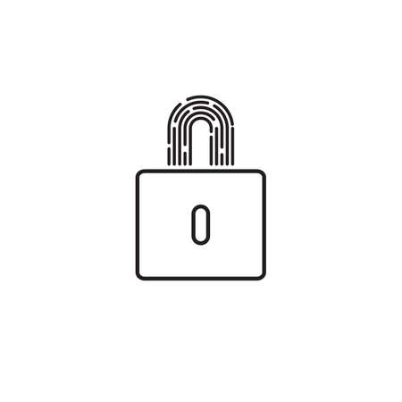 Security abstract minimal line icon 矢量图像