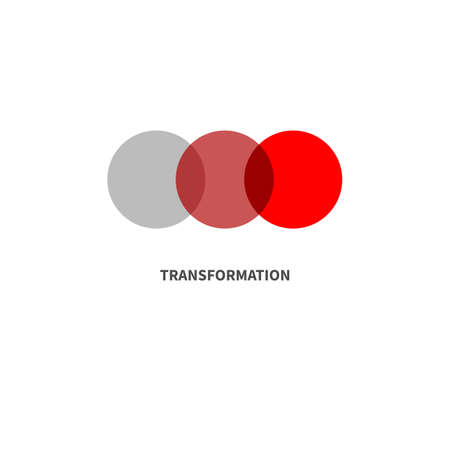 Transformation minimal abstract color symbol