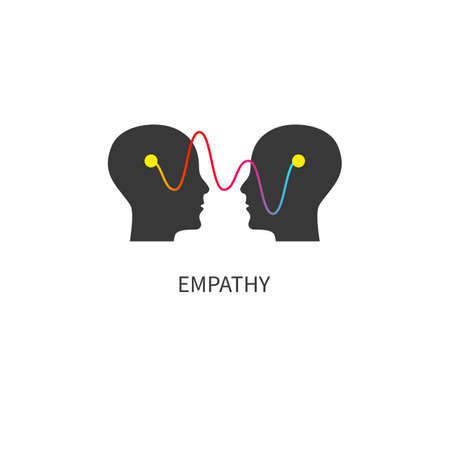 empathy. Interpersonal communication abstract icon