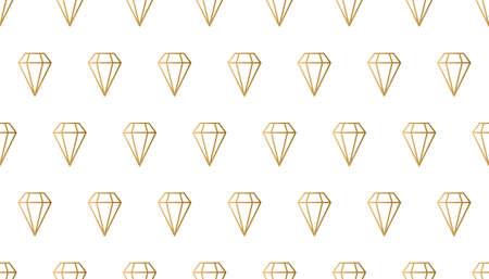 Seamless line diamonds pattern Illusztráció