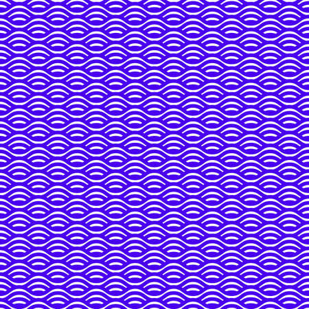 Seamless wave line pattern