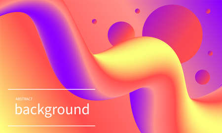 Wavy line poster for party, music banner, bright futuristic modern background
