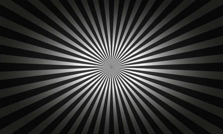 Abstract geometric monochrome background with rays from center