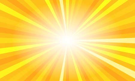 Yellow sun rays. Summer banner with burst