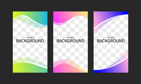 Set of abstract geometric templates for web applications