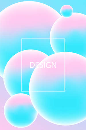 background with pink and blue 3D spheres