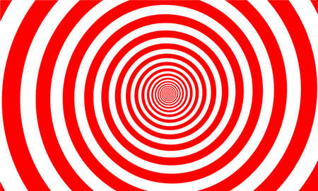 Banner with spiral, magic red circle, graphic design element