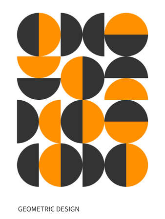 ector geometric abstract circle shapes. Simple modern design elements