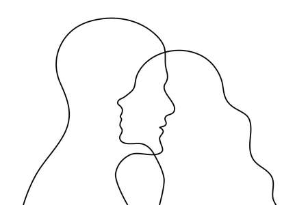 Relationships between man and woman poster, interpersonal communication