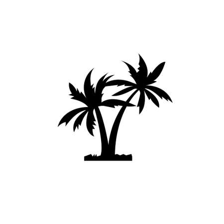 Two coconut palms icon. Symbol for travel agency