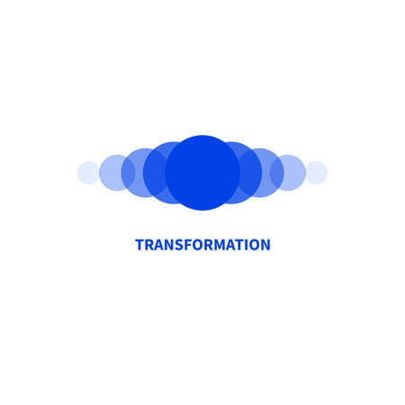 Coaching  . Transforming, transformation icon. Symbol of coach 矢量图像