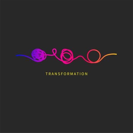 Psychotherapy icon. Transformation symbol. Logo therapy, psychoanalysis 矢量图像