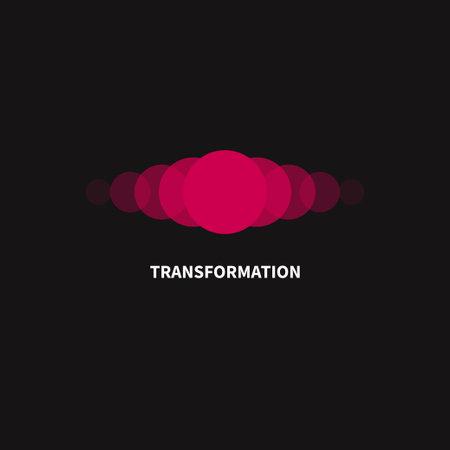 Change, transformation  . Business icon, innovation, development