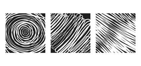 Hand drawn Doodle background. Pattern with grange lines