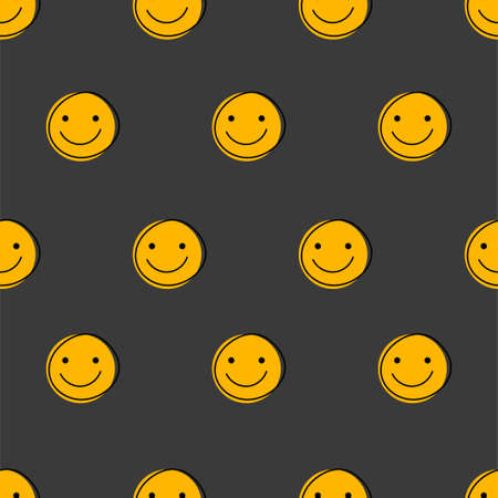 Funny faces with smiles seamless pattern for april fools day