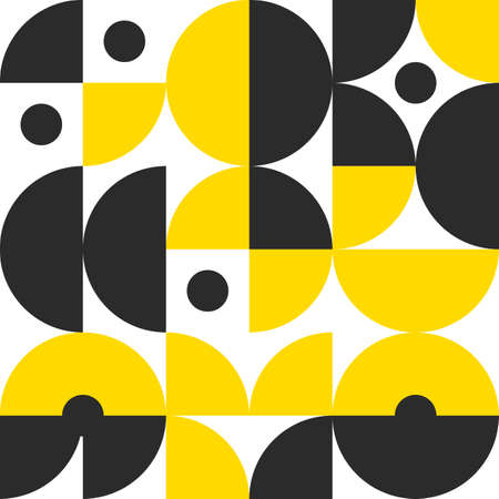 Retro pattern in style of 60s, 70s. Bauhaus seamless color geometric background Vettoriali