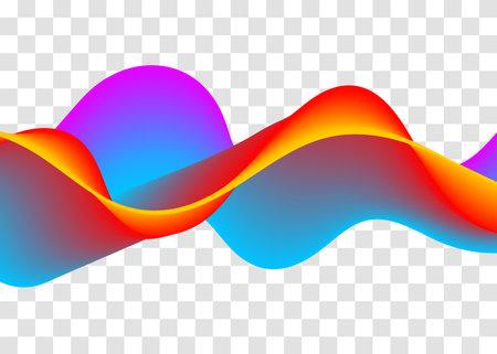 Sound abstract rainbow music wave. Wavy line Vettoriali