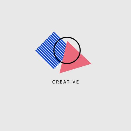 Creative geometric logo for advertising agency or brand