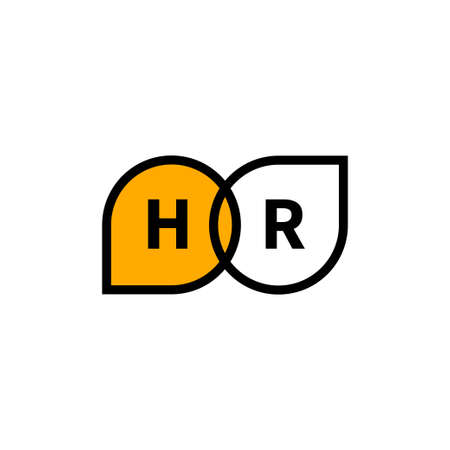 hr icon with two comment bubbles. interview concept