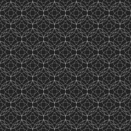 Lace seamless pattern with thin lines in shape of circles