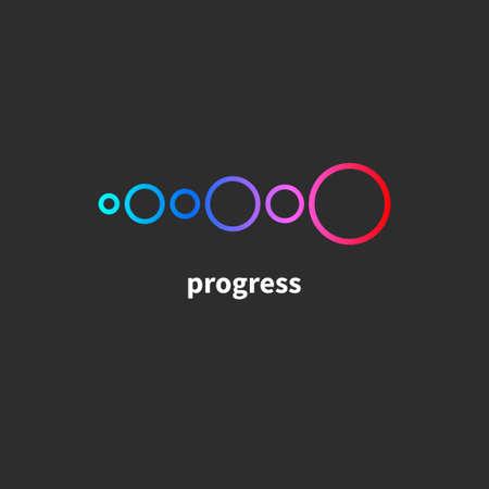 Transformation, progress. Business icon, development and training 矢量图像
